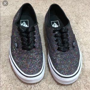 Vans Authentic Women's Rainbow glitter shoes NIB